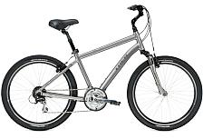 ВелосипедКомфортная посадка<br>Комфортный хардтейл-комфорт велосипед Trek Shift 3 2016. Установлены вилка SR Suntour NEX-MLO, а также полупрофессиональное оборудование. Trek Shift 3 2016 предназначен для спокойного катания по ровным дорогам и отличается высоким рулём и мягким седлом.<br> <br> Рама и амортизаторы<br> <br> Рама: Alpha Gold Aluminum<br> Вилка: SR Suntour NEX-MLO<br> Цвета: Newport Blue<br> <br> Цепная передача<br> <br> Манетки: Shimano EF65, 8 speed<br> Передний переключатель: Shimano M191<br> Задний переключатель: Shimano Alivio<br> Шатуны: Suntour NEX, 48/38/28 w/chainguard<br> Кассета: Shimano HG31 11-32, 8 speed<br> Количество скоростей: 24<br> Педали: Wellgo nylon platform<br> <br> Колеса<br> <br> Обода: Formula FM21 alloy front hub; Shimano RM30 alloy rear hub w/Heavy-duty double-walled 36-hole alloy rims<br> Покрышка: Bontrager H5 Hard-Case Ultimate, 26x2.0<br> <br> Компоненты<br> <br> Передний тормоз: Tektro alloy linear-pull brakes w/Shimano EF65 levers<br> Задний тормоз: Tektro alloy linear-pull brakes w/Shimano EF65 levers<br> Грипсы: Bontrager Satellite Elite, lock-on, ergonomic<br> Руль: Steel, 80mm rise<br> Вынос:&amp;nbsp;Alloy, adjustable rise, quill<br> Рулевая колонка: 1-1/8, semi-integrated, semi-cartridge bearings<br> Седло: Bontrager Suburbia w/gel padding<br> Подседельный штырь: Alloy, adjustable suspension, 31.6mm<br><br>Пол: Мужской<br>Возраст: Взрослый