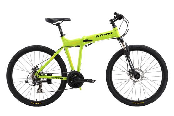 Купить Велосипед Stark Cobra Disc 2015 зелено-желтый, Складные велосипеды, 1257724