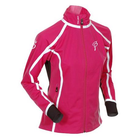 Купить Куртка беговая Bjorn Daehlie Jacket OLYMPIC Women Festival Fuchsia/Black/Silver (малиновый/черный) Одежда лыжная 775513