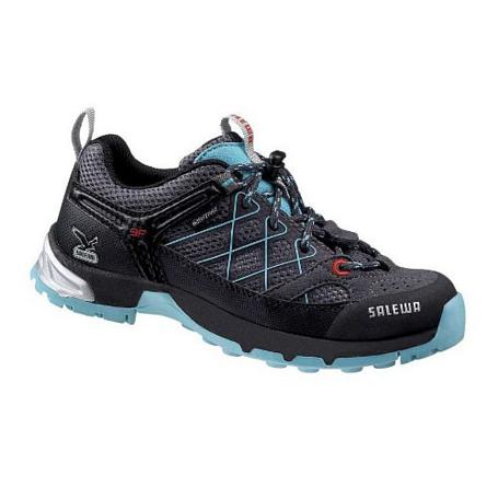 Купить Ботинки для треккинга (низкие) Salewa Junior Approach JUNIOR FIRETAIL WATERPROOF carbon-atoll Треккинговая обувь 896876