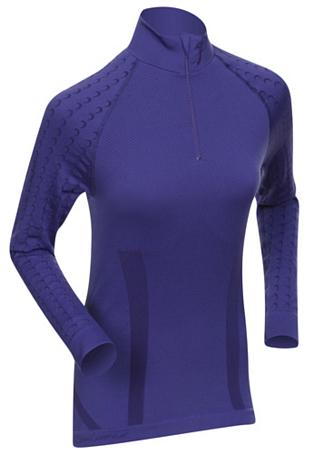 Купить Футболка с длинным рукавом беговая Bjorn Daehlie Half Zip MOTIVATOR Women Deep Blue/Parachute Purple (фиолетовый), Одежда лыжная, 775048