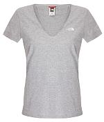 Футболка для активного отдыхаОдежда для активного отдыха<br>The North Face® Women's Short Sleeve Simple Dome Tee - женская футболка - отличный вариант для каждодневного использования. Укороченные рукава и женственный V-образный вырез. Принт на груди с логотипом The North Face®. Доступна в ряде цветовых решений для разного настроения.&amp;nbsp;&amp;nbsp;