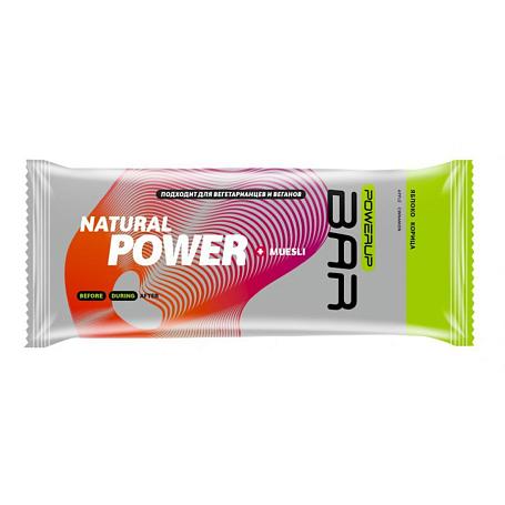 Купить Батончик POWERUP Энергетический батончик FRUIT+NUTS 100г. MUESLI яблоко, корица Спортивное питание 1340368