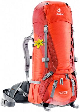 Купить Рюкзак Deuter 2015 Aircontact 40 + 10 SL papaya-lava Рюкзаки туристические 1072934