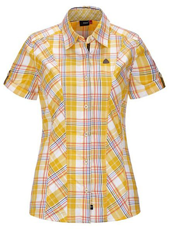 Рубашка для активного отдыха MAIER 2014 Ladies SDP + Casual Margareten blue/yellow check