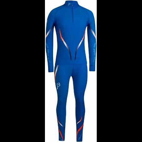 Купить Комплект беговой Bjorn Daehlie Racesuit VICTORIAN 2-piece Ocean Blue/Shocking Orange (синий/оранж), Одежда лыжная, 858658