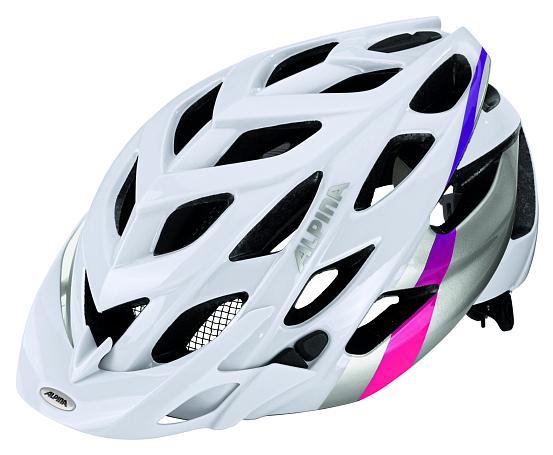 Купить Велошлем Alpina 2018 D-Alto white-silver-pink, Шлемы велосипедные, 1323552