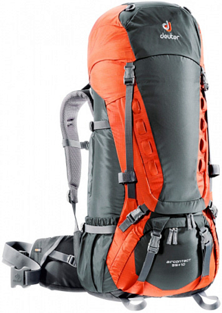 Рюкзак Deuter 2015 Aircontact Aircontact 55 + 10 granite-papaya