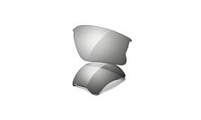 Запасные линзыОчки солнцезащитные<br>Сменные линзы для очков Oakley FLAK JACKET<br> <br> - Линзы с защитой Plutonite: материал, который отфильтровывает 100% UVA / UVB / UVC и вредного синего спектра до 400 нм.<br> - высокая четкость Optics® (HDO®)