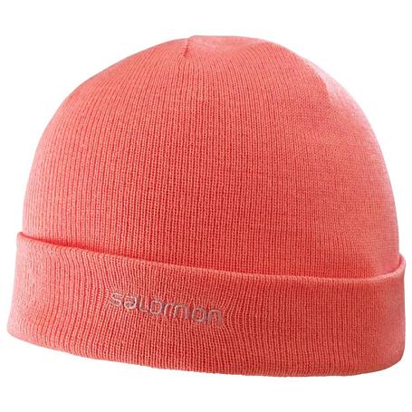 Купить Шапка SALOMON 2017-18 FOURAX BEANIE Fluo Coral, Головные уборы, шарфы, 1367422