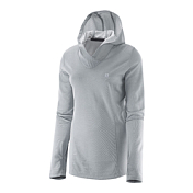 Толстовка Беговая Salomon Elevate LS Hoodie W Light Onix