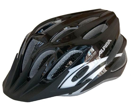 Купить Велошлем Alpina 2018 Tour 2.0 black-silver-white, Шлемы велосипедные, 1180219