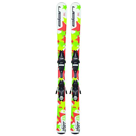 Купить Горные лыжи с креплениями Elan 2015-16 STARR QT EL 7.5 (130-150), лыжи, 1195983