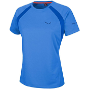 Футболка для активного отдыха Salewa 2016 PUEZ (SPORTY B) DRY W S/S TEE royal blue/8310