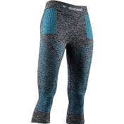 Брюки 3/4 X-Bionic 2019-20 Energy Accumulator 4.0 Melange Pants 3/4 Wmn Dark Grey Melange/Water Green