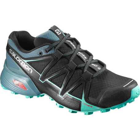 Беговые кроссовки для XC Salomon 2018 SPEEDCROSS VARIO 2 W Black/North Atlantic/Biscay G