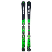 Горные лыжи с креплениями HEAD 2018-19 V-Shape V10 SW LYT PR+PR 11 GW BRAKE 90 [G] black/green