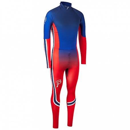 Купить Комплект беговой Bjorn Daehlie RACESUITS Racesuit DEFENDER 2 - PIECE Blue/Red Fading (Синий/красный), Одежда лыжная, 1103040