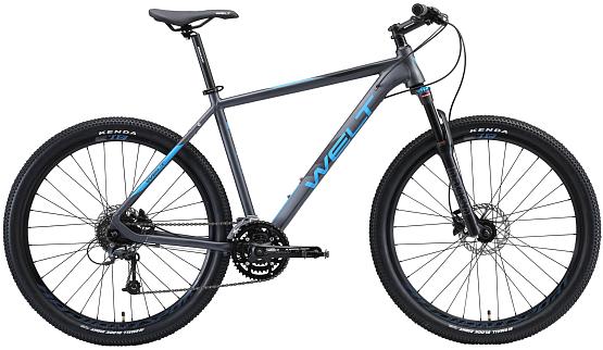 Купить Велосипед Welt Rockfall 5.0 27 2020 Dark Grey/Blue: цена 47990  руб, отзывы на КАНТе
