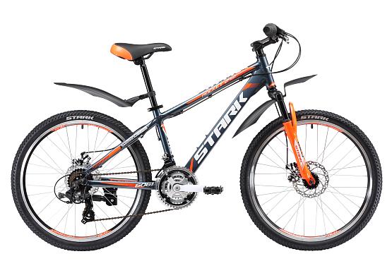 Купить Велосипед Stark Rocket 24.2 D 2017 Серо-Оранжевый, Подростковые велосипеды, 1317861