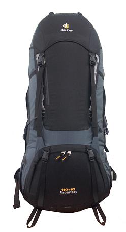 Купить Рюкзак Deuter 2017-18 Aircontact 110+10 black-granite Рюкзаки туристические 1166536