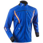 Куртка беговаяОдежда лыжная<br>Разминочная куртка на молнии из ткани Softshell &amp;#40;10000 мм/5000&amp;#41;с защитой от ветра и влаги, внутренняя часть куртки имеет отделку из структурированного флиса. Карман для плейера с выходом для гарнитуры, два боковых кармана на молнии, светоотражающие вставки. Влагоотводящие эластичные вставки. Фронтальная молния на всю длину изделия. Вставки по бокам из эластичной ткани Thermodream для большего комфорта в движении.<br><br>Состав: 100% ПОЛИЭСТЕР<br><br>Пол: Мужской<br>Возраст: Взрослый<br>Вид: куртка