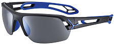 Очки солнцезащитные CEBE 2020 S'Track M Matt Black Blue/1500 Grey PC Polarized AF Silver + 500 Clear PC AF