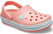 Сандалии Crocs Crocband Clog K Melon/Ice Blue