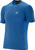 Футболка беговая SALOMON 2016 TRAIL RUNNER TEE M Union Blue