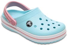 Сандалии Crocs Crocband Clog K Ice Blue/White