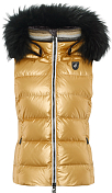 Жилет горнолыжный TONI SAILER 2020-21 Lou metallic fur Golden glacier