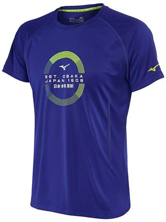 Купить Футболка беговая Mizuno 2016 Transform Tee синий, Одежда для бега и фитнеса, 1264865