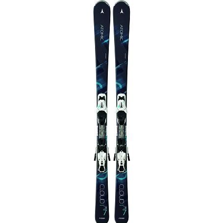 Купить Горные лыжи с креплениями ATOMIC 2014-15 Women CLOUD SEVEN & XTE 10 LADY BLACK/TQ 1140208