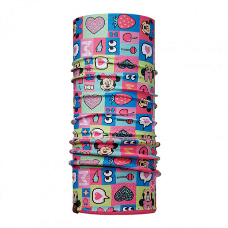 Бандана BUFF Licenses MINNIE CHILD POLAR BUFF FUNN Y PINK / DRADON FRUIT