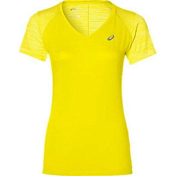 Футболка беговая Asics 2017 fuzeX V-NECK SS TOP ЖЕЛТЫЙ