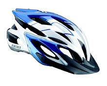 Летний шлемВелосипедные шлемы<br>23 вентиляционных отверстия с отверстиями сзади для оптимального потока воздуха.<br>Съемный козырек.<br>Размеры: M &amp;#40;52-58 см&amp;#41; и L &amp;#40;58-62 см&amp;#41;.<br>Цвета: Два оттенка черного, синий/белый и два оттенка белого.<br><br>Пол: Унисекс<br>Возраст: Взрослый