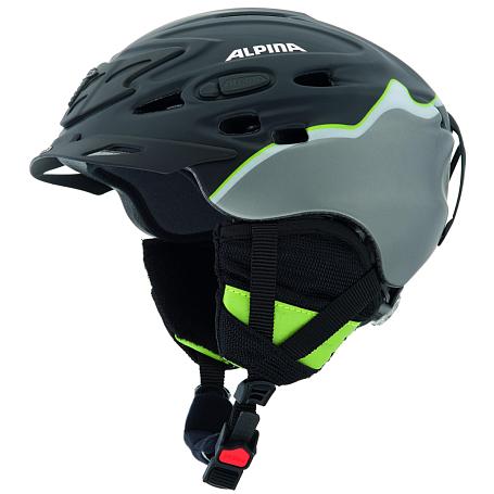 Купить Зимний Шлем Alpina ALL MOUNTAIN SCARA L.E. black-green silk matt, Шлемы для горных лыж/сноубордов, 1131040