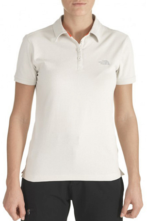 Поло туристическое THE NORTH FACE 2012 T0AQWA W DEVA POLO (Moon Light Ivory) серый