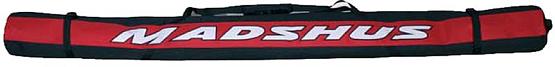 Купить Чехол для беговых лыж MADSHUS Ski bag black/red, Чехлы лыж, 562470