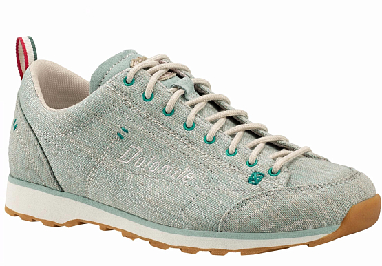 Купить Ботинки городские (низкие) Dolomite 2017 Cinquantaquattro Lh Canvas Ws Aquamarine Green/Canapa Beige Треккинговая обувь 1331801