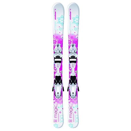 Купить Горные лыжи с креплениями Elan 2015-16 LIL MAGIC QT EL 7.5 (130-150), лыжи, 1196009