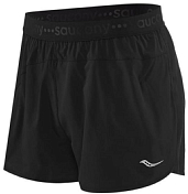 "Шорты беговые Saucony 2020-21 Split Second 2.5"" Short Black"