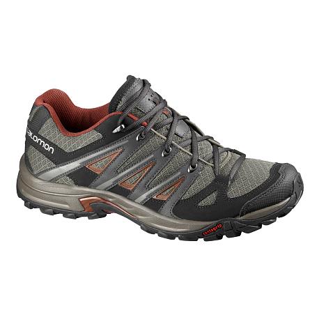 Купить Ботинки для треккинга (низкие) SALOMON 2016 SHOES ESKAPE AERO SWAMP/ASPHALT/DEEP RED Треккинговая обувь 1247070