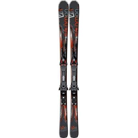 Купить Горные лыжи с креплениями SALOMON 2013-14 K Enduro RS 800 + KZ10 B80 black/yellow 901324