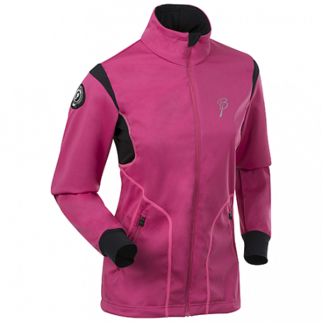 Куртка беговая Bjorn Daehlie JACKET/PANTS Jacket CROSSER Women Beetroot Pink/Black/Knockout Pink (Розовый/черный/розовый)