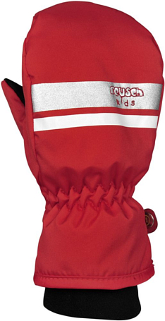 Варежки REUSCH 2015-16 Kids Mitten fire red / silver