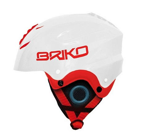 Шлем Briko POCKET WHITE RED (D4)
