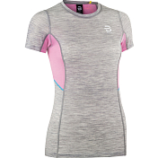 Футболка беговая Bjorn Daehlie 2020 Training Wool Summer Tshirt Wmn Light Grey Melange