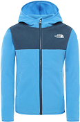 Толстовка для активного отдыха The North Face 2020 Boy's Glacier Full Zip Hoodie Clear Lake Blue