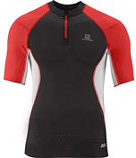 Футболка беговая SALOMON 2014 S-LAB EXO ZIP TEE M BLACK/WHITE